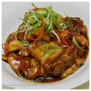 Stewed Roasted Pork Belly in Shanghai Style