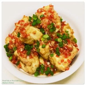Fried Tofu in Thai Chilli Sauce