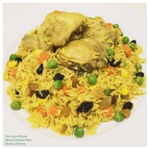 Nasi Ayam Briyani (Briyani Chicken Rice)