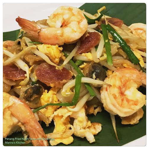 Penang Fried Kueh Teow with Duck Egg