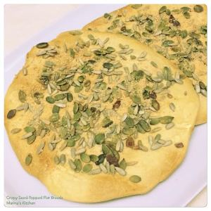 Crispy Seed-Topped Flat Breads