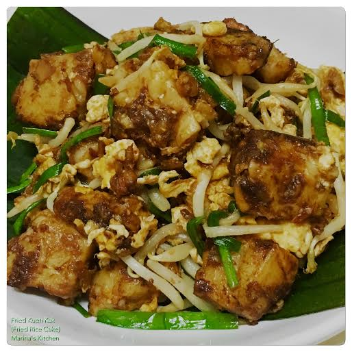 Fried Kueh Kak (Fried Rice Cake)
