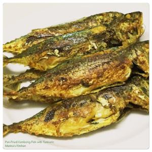 Pan-Fried Kembong Fish with Turmeric