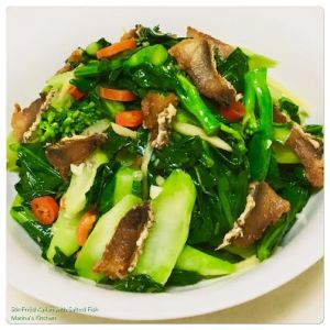 Stir-Fried Kailan with Salted Fish