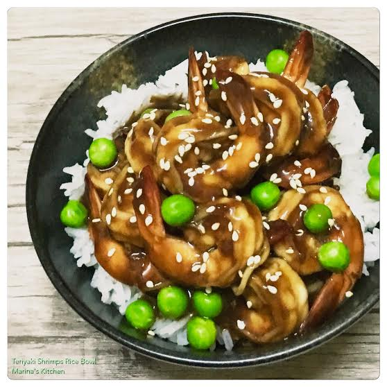 Teriyaki Shrimps Rice Bowl