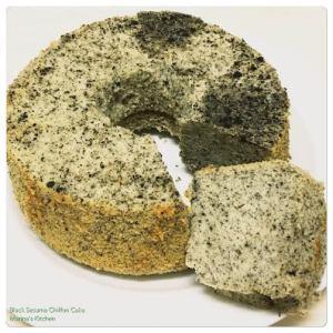 Black Sesame Chiffon Cake 1