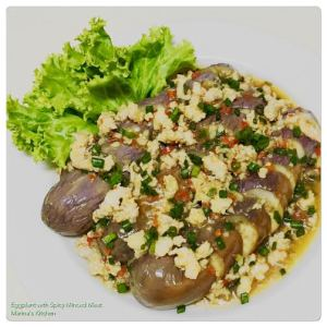 Eggplant with Spicy Minced Meat