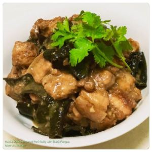 Hakka Style Simmered Pork Belly with Black Fungus