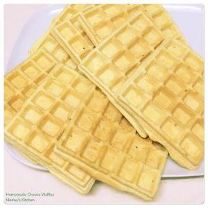 Homemade Cheese Waffles