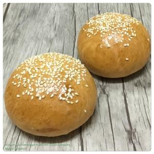 Homemade Hamburger Buns with Sesame Topping