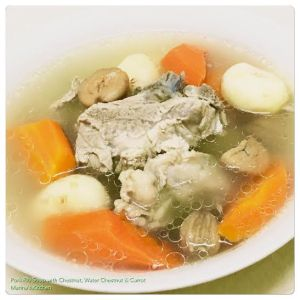 Pork Rib Soup with Chestnut, Water Chestnut & Carrot