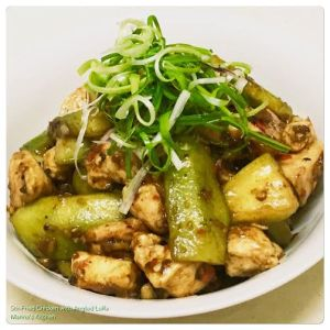Stir-Fried Chicken with Angled Luffa