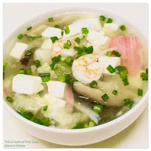 Tofu & Seafood Thick Soup
