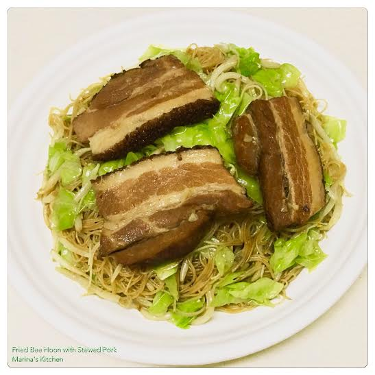 Fried Bee Hoon with Stewed Pork