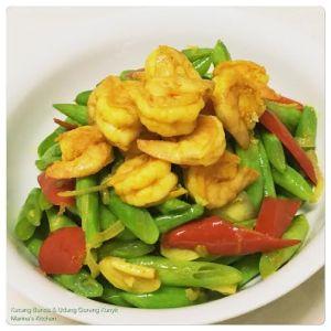 Kacang Buncis & Udang Goreng Kunyit