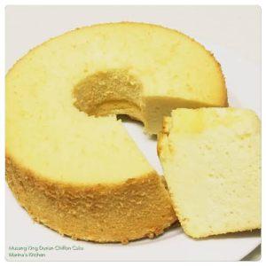 Musang King Durian Chiffon Cake