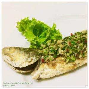 Pan-Fried Threadfin Fish with Spiced Salt