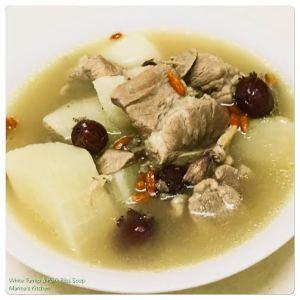 White Turnip & Pork Ribs Soup