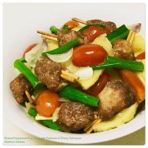 Braised Vegetarian Pork Ribs with Potatoes & Cherry Tomatoes