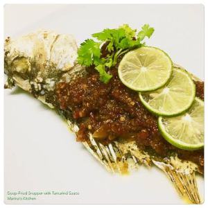 Deep-Fried Snapper with Tamarind Sauce