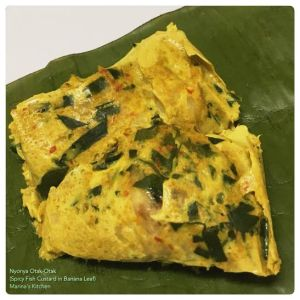 Nyonya Otak-Otak (Spicy Fish Custard in Banana Leaf)