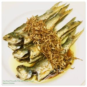 Pan-Fried Threadfin Fish with Crispy Ginger