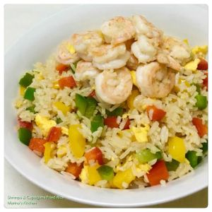 Shrimps & Capsicums Fried Rice