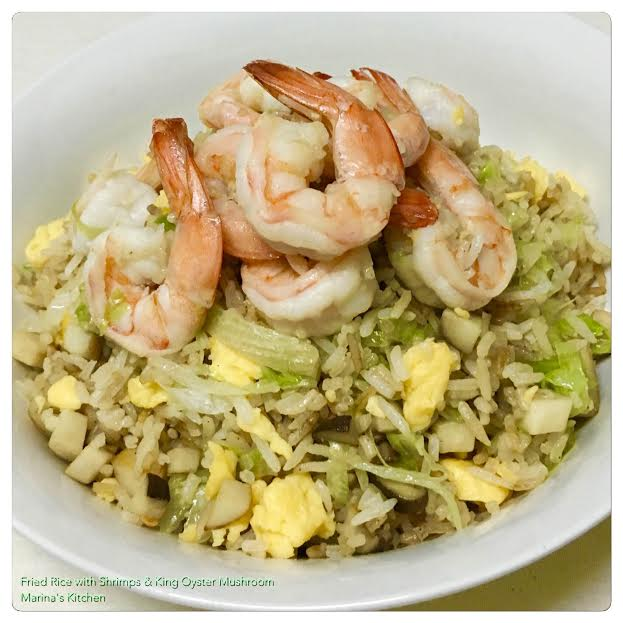 Fried Rice with Shrimps & King Oyster Mushroom