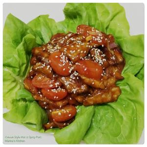 Korean Style Hot & Spicy Pork