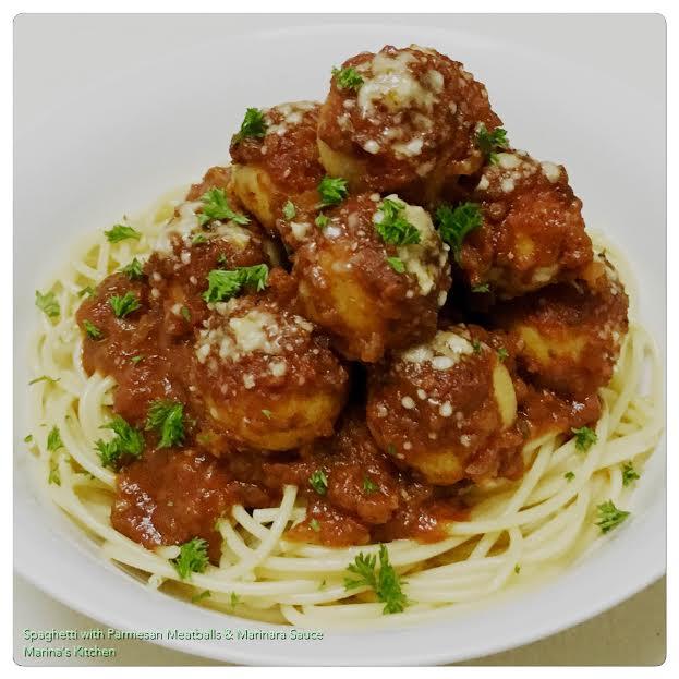 Spaghetti with Parmesan Meatballs & Marinara Sauce