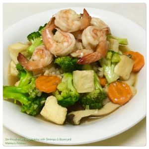 Stir-Fried Mixed Vegetables with Shrimps & Beancurd