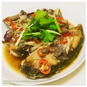 fried-flatfish-with-fermented-soybean