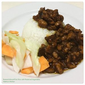braised-minced-pork-rice-with-preserved-vegetables