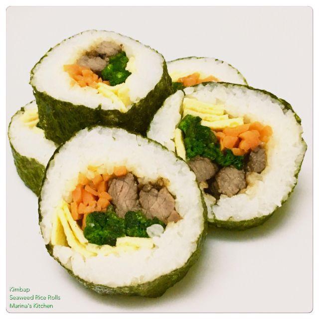 kimbap-seaweed-rice-rolls