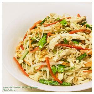 somen-with-shredded-chicken-vegetables