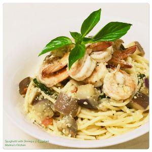 spaghetti-with-shrimps-eggplant