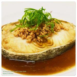 steamed-cod-fillet-with-crispy-garlic