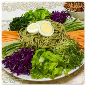 jaengban-guksu-korean-cold-noodles-vegetables