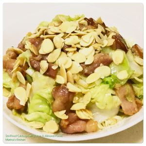stir-fried-cabbage-with-bacon-almond-flakes