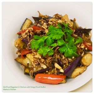 stir-fried-eggplant-chicken-with-crispy-fried-shallot