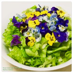 green-salad-with-violet-flowers