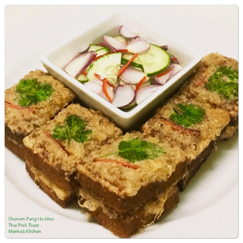 Khanom Pang Na Moo (Thai Pork Toast)