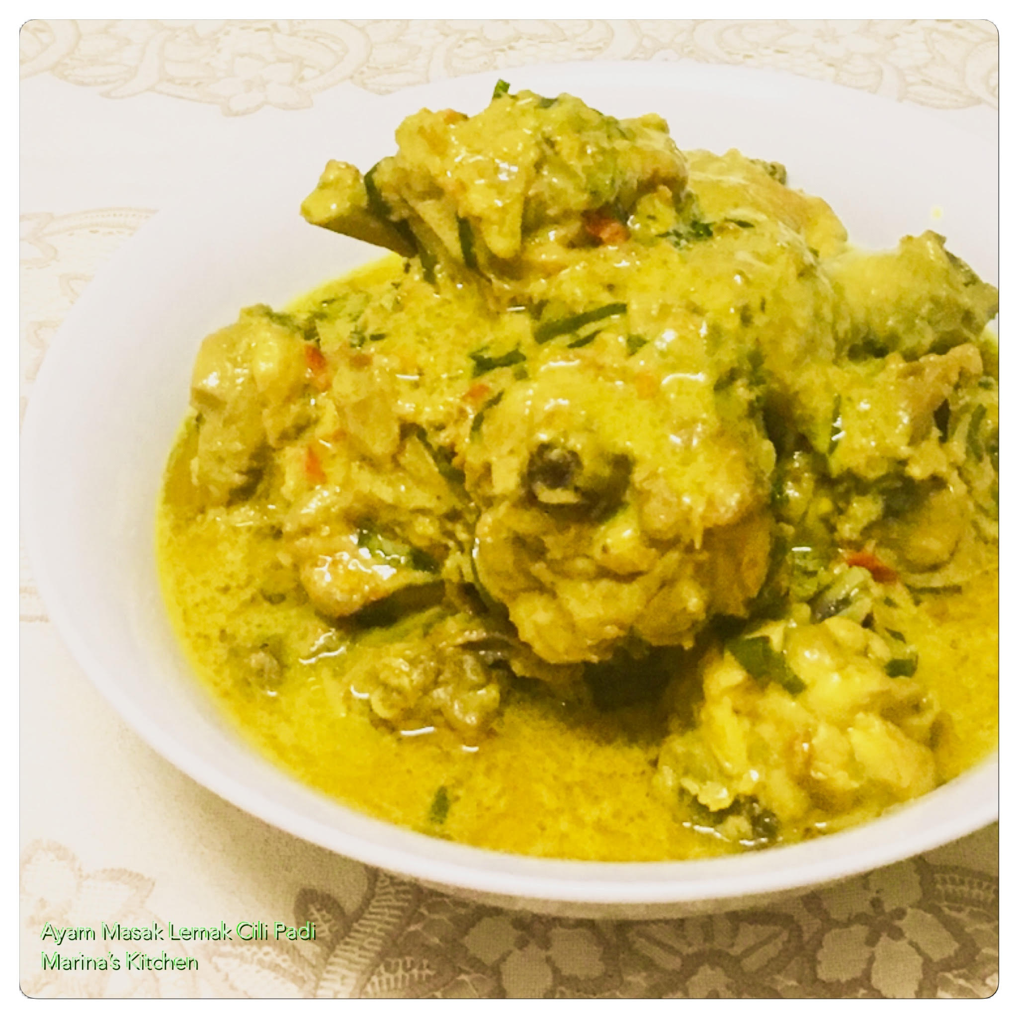 Ayam Masak Lemak Cili Padi Marina S Kitchen