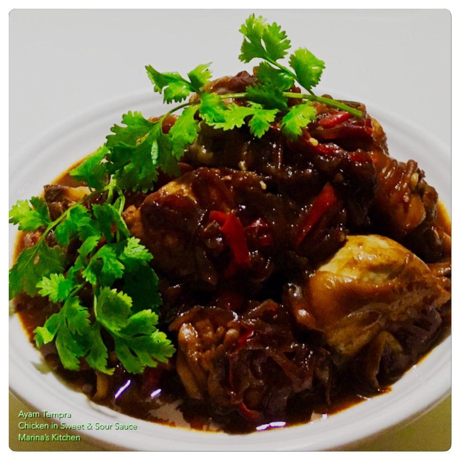 ayam tempra (chicken in sweet & sour sauce)