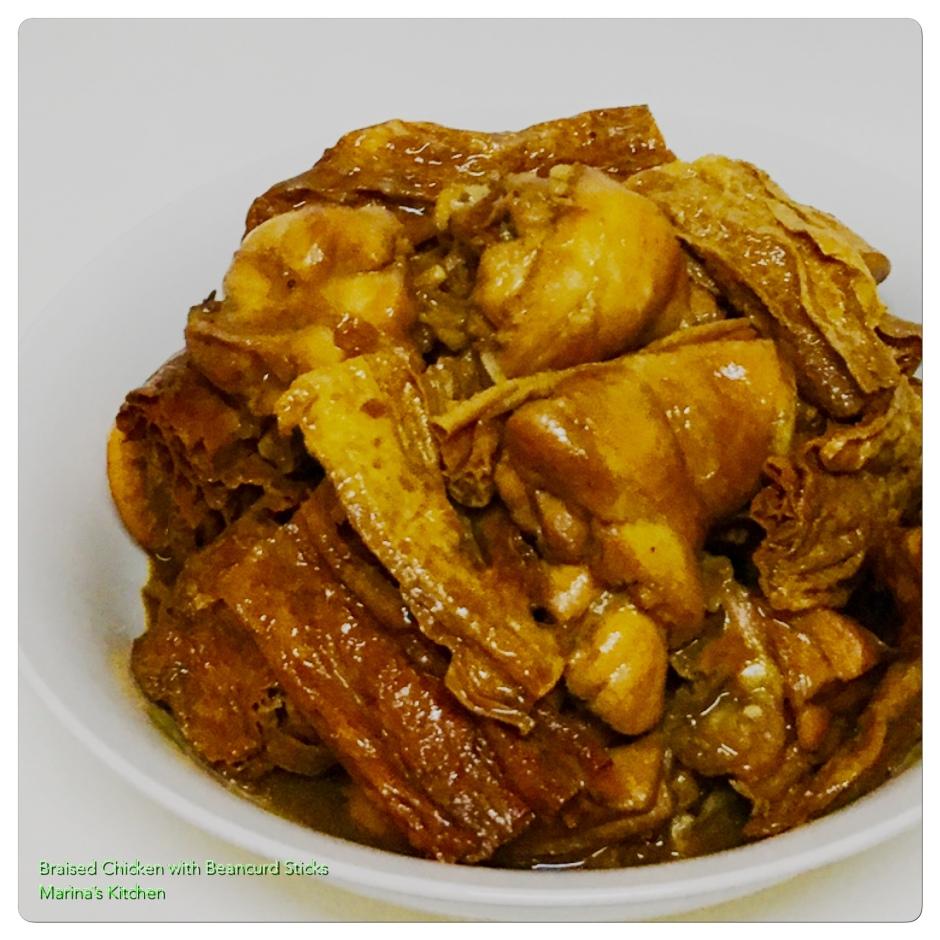 Braised Chicken with Beancurd Stick